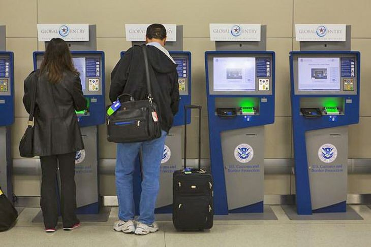 a2c412e7205d Customs and Border Protection s Global Entry kiosks speed up the arrivals  process. (Image