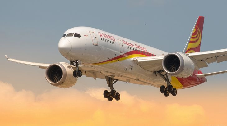 A Hainan Airlines 787 like this one is coming to San Jose. (Image: Simon Auger/Flickr)