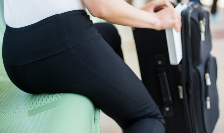 Womens traveling yoga pants from BetaBrand