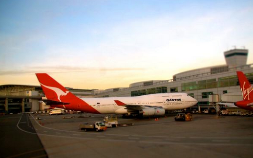I snapped this image of QANTAS' final SFO flight in 2011 (Chris McGinnis)
