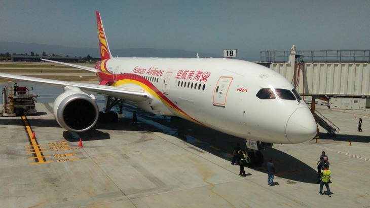 Hainan Air arrives at SJC with 787 nonstops to Beijing (Photo: SJC)