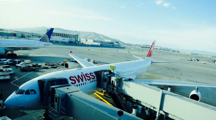 Starting July 6, there will be two SWISS A340 flights per day at SFO (Chris McGinnis)