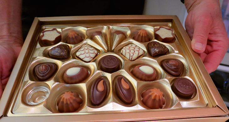 And of course, a selection of fine Swiss chocolates to end the meal service (Chris McGinnis)