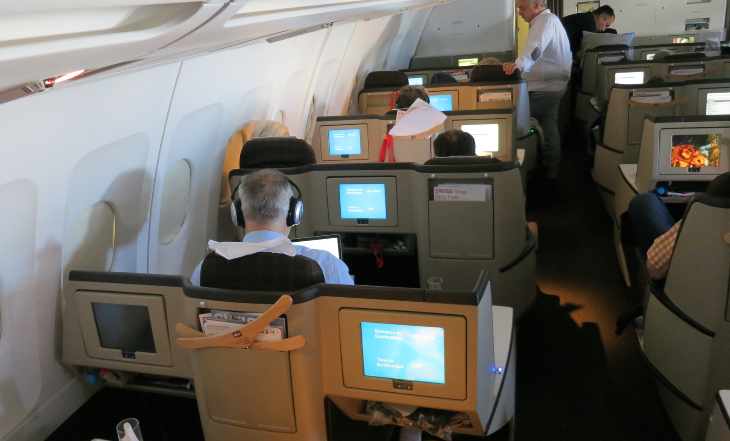 Single seats with consoles on both sides are the best seats on the plane! (Chris McGinnis)