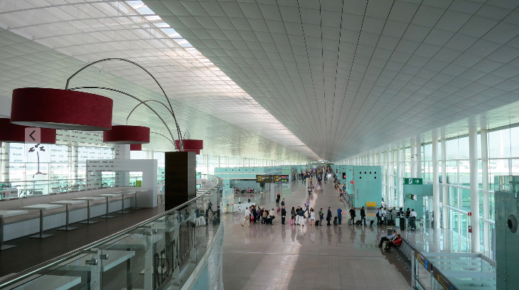 Barcelona El Prat's big bright and gorgeous international terminal  (Chris McGinnis)