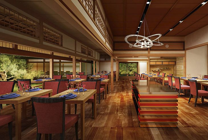 Traditional styling in restaurant at Suiran in Kyoto. (Image: Starwood)