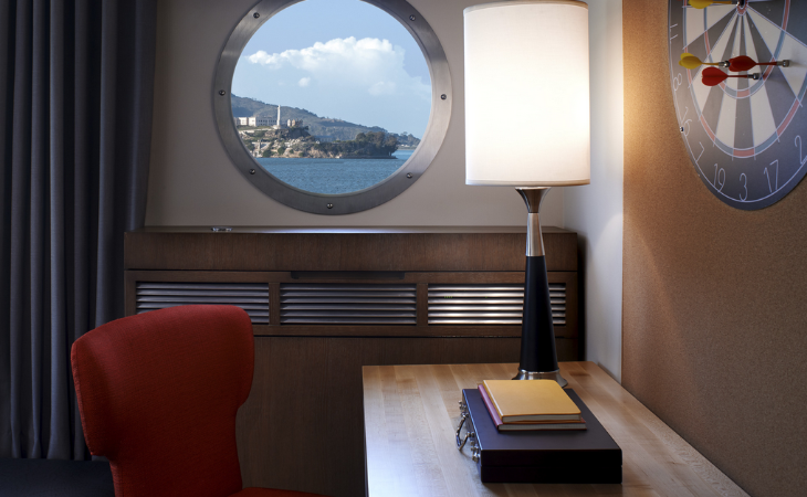 A king room with a water view at San Francisco's brand new Hotel Zephyr runs about $400/nt (Image: Hotel Zephyr)