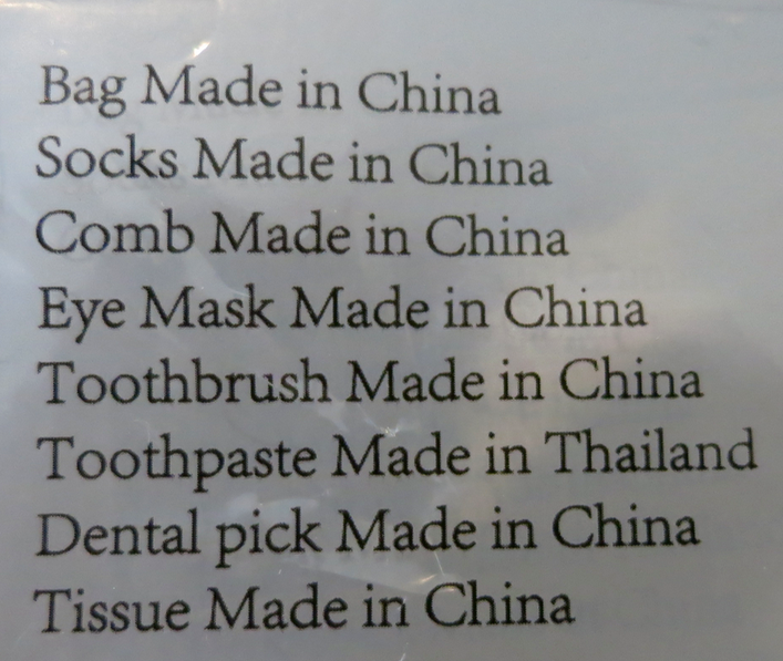 Even tho Cowshed sounds veddy British, nearly everything in the bag is from China