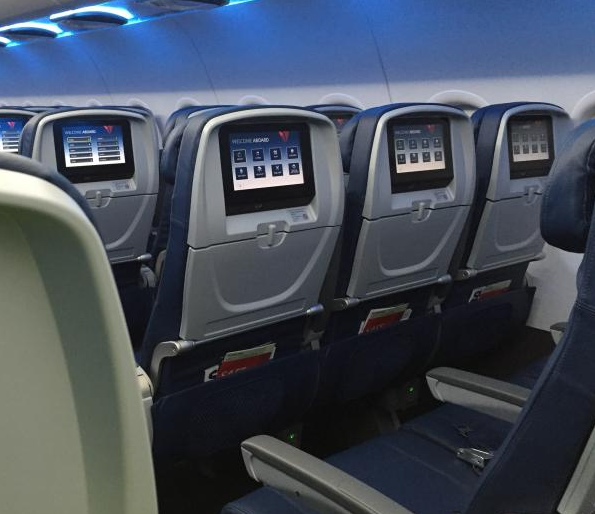 Delta's A319s are getting nine-inch screens at every seat. (Image: Delta)