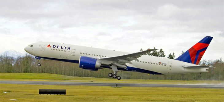 Delta is using a 777-200LR for its new LAX-Shanghai flights. (Image: Delta)