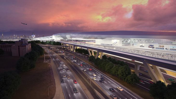 LaGuardia's new terminal will be much closer to the Grand Central Parkway. (Image: New York Governor's Office)