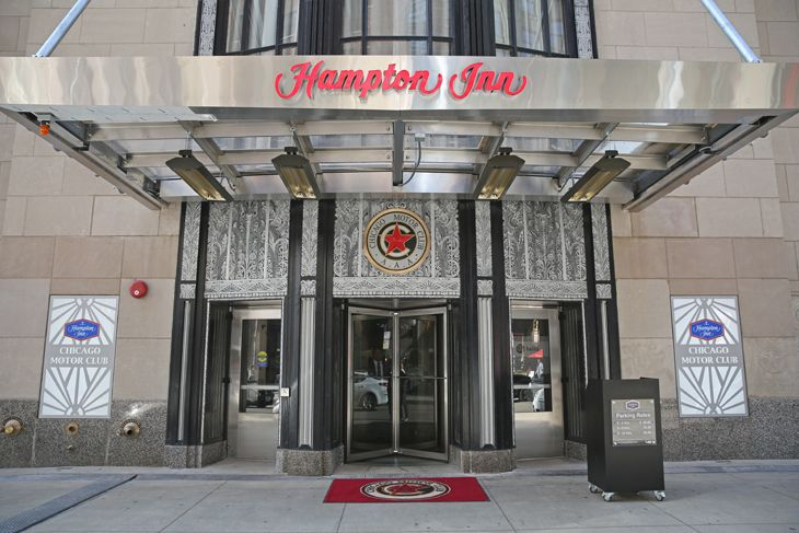 Historic entrance to Hilton;s newest Hampton Inn in downtown Chicago. (Image: Hampton Inns)