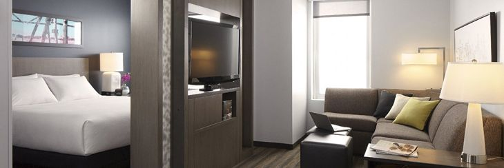 Residential-style accommodations at the new Hyatt House Atlanta/Downtown. (Image: Hyatt)