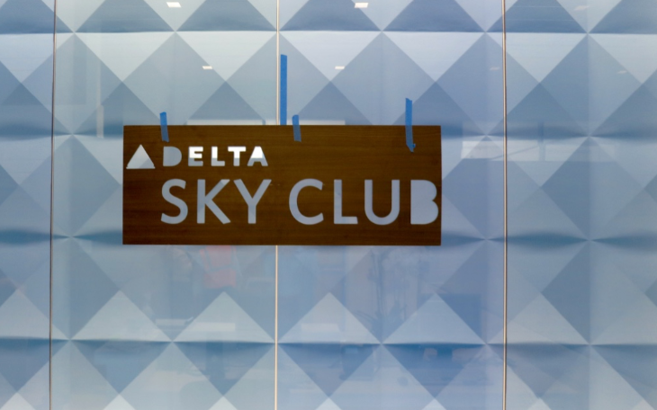 Finishing touches on Delta's new Sky Club at SFO opens Friday at 6 a.m.