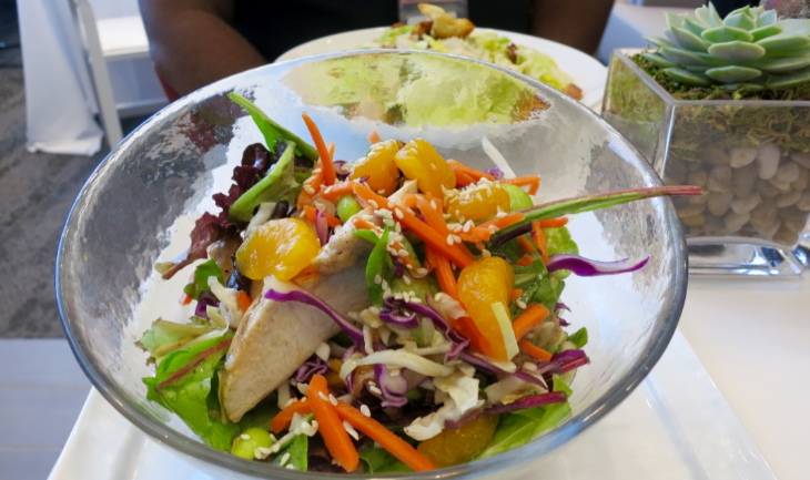 A healthy Asian Chicken Salad available for purchase - $9 (Photo: Chris McGinnis)