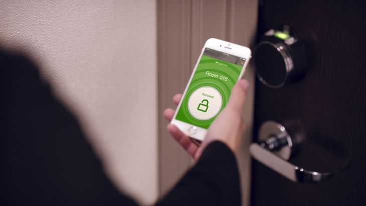 An upgrade to the HHonors app lets it be used as a room key. (Image: Hilton)
