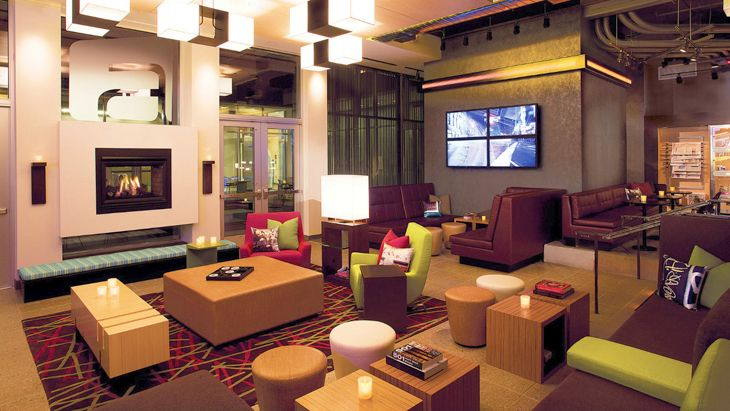 "The new Aloft in New York's financial district has a signature ""re: mix"" lounge. (Image: Starwood)"