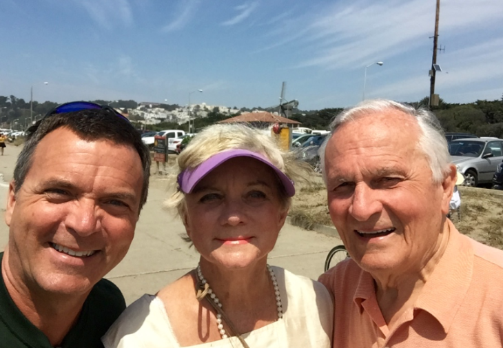 My mom & dad during their recent trip to San Francisco (Photo: Chris McGinnis)