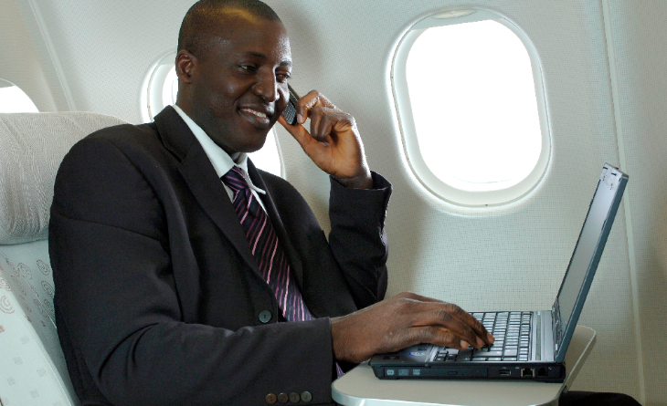 13 million flyers used OnAir's mobile phone service from planes last year (Photo: SITA OnAir)