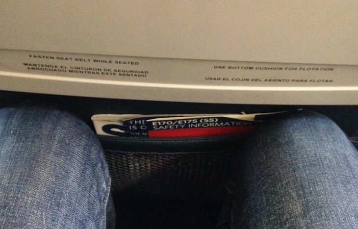 Take pity on the tall traveler who is faced with this in economy class (Image: Eric Schmidt)