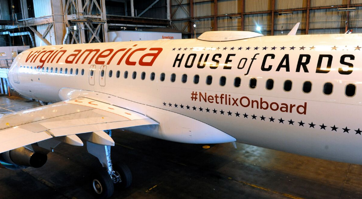 Free internet on Virgin America's new A320s compliments of Netflix (Photo: Virgin America)