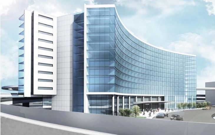 Artist't renderign of the new hotel coming to San Francisco International. (Image: San Francisco Airport)