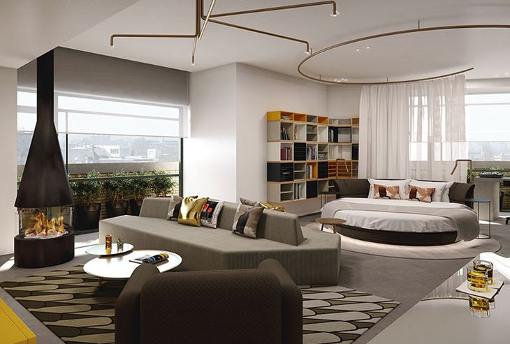 A signatrure WOW Suite at the new W Hotel Amsterdam. (Image: Starwood)