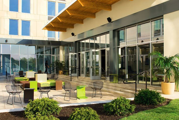 "The ""backyard"" is open to guests at Aloft's Santa Clara hotel. (Image: Starwood)"