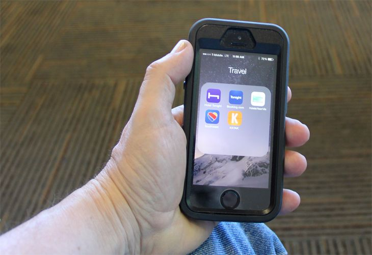 How many travel apps do you have on your phone? (Image: Jim Glab)