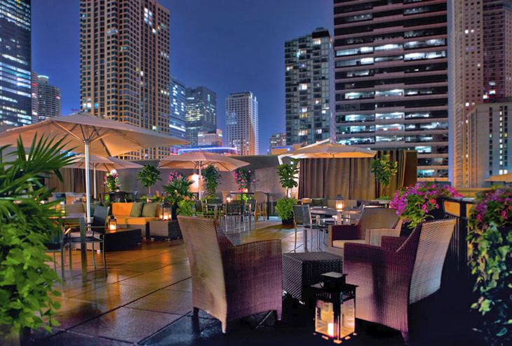 Outdoor Terrace at Starwood Luxury Collection's The Gwen in Chicago. (Image: Starwood)