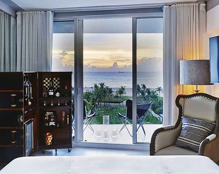 Guest accommodations at Sixty Hotels' new Nautilus in Miami Beach. (Image: Sixty Hotels)
