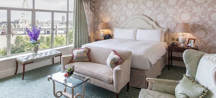 A room at The Savoy in London. (Image: Savoy Hotel)