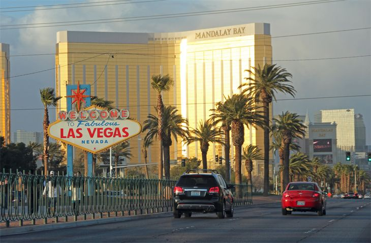 Uber says its drivers are ow cruising The Strip in Las Vegas. (Image: Jim Glab)
