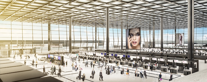 Expansive check-in hall at Frankfurt Airport's new Terminal 3. (Image: Fraport)