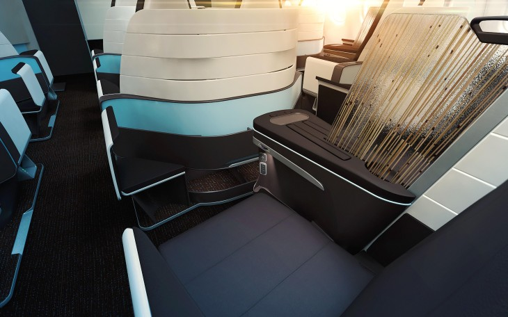 Hawaiian Air's new first class seat goes flat (Image: Hawaiian Airlines)