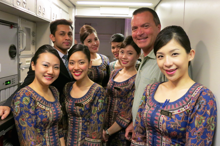 Cutting up with the crew on Singapore Airlines flight to Hong Kong this week - stay tuned for a trip report!