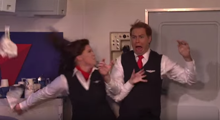 Saturday Night Live spoofed Delta flight attendants last night (see below for video)