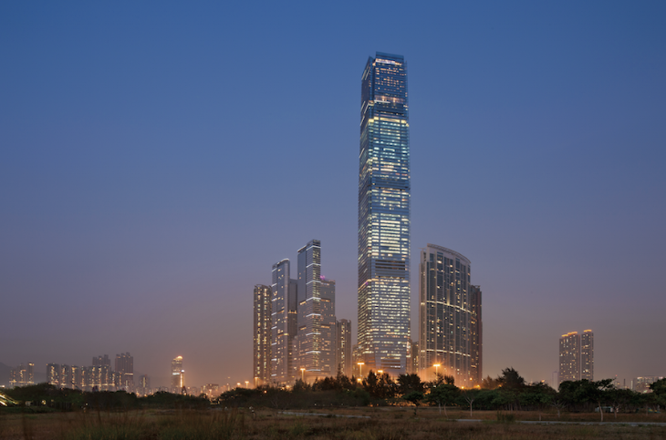 Ritz-Carlton Hong Kong in top floors of the ICC Tower in Kowloon (Photo: Ritz-Carlton)