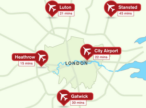 Gatwick Airport is about 30 mins south of Victoria Station (Image: Visit London)
