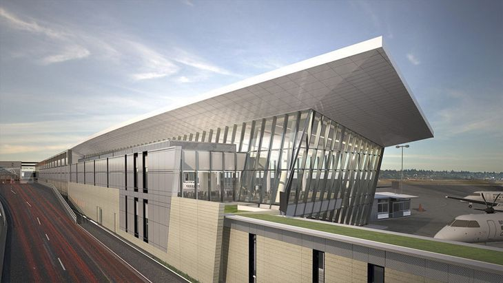 External view of Portland Airport's Concourse E expansion. (Image: Portland Airport)