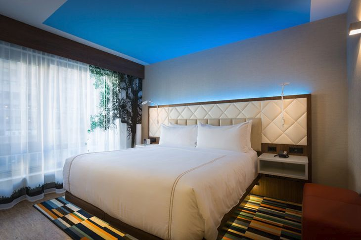 InterContinental's new EVEN hotel in New York has mood lighting in guest rooms. (Image: InterContiental Hotels Group)