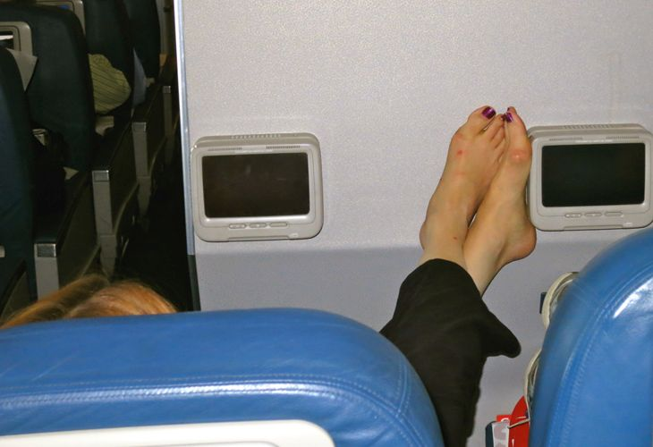 Is there such a thing as in-flight etiquette any more/ (Image: Chris McGinnis)