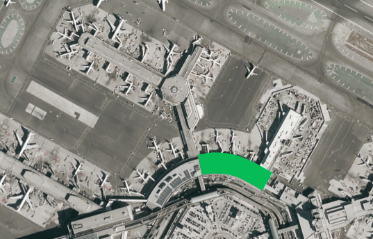 The Terminal 3 East Concourse appears in green (Image SFO)
