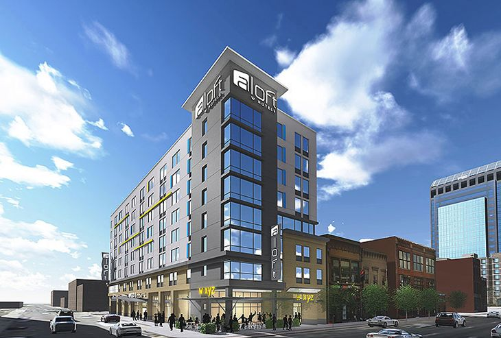The new Aloft Louisville Downtown. (Image: Aloft)