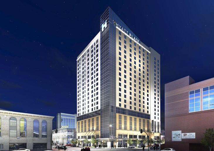 Downtown Denver's new dual-branded Hyatt Place/House is near the convention center. (Image: Hyatt)