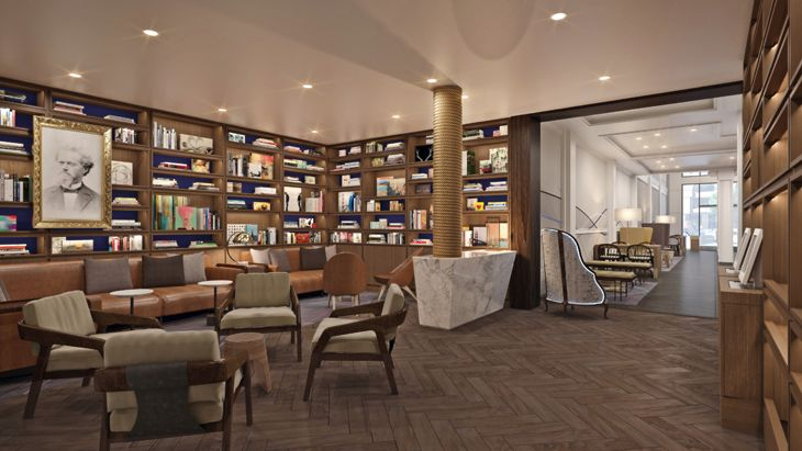 The Library in San Francisco's new Axiom Motel. (Image: Axiom Hotel)