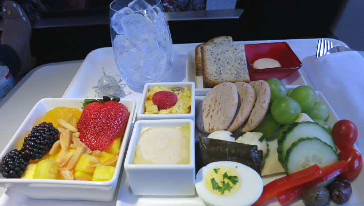 Virgin America's Protein Plate breakfast. (Image: Chris McGinnis)