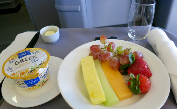 Breakfast starters on United p.s. BusinessFirst (Chris McGinnis)