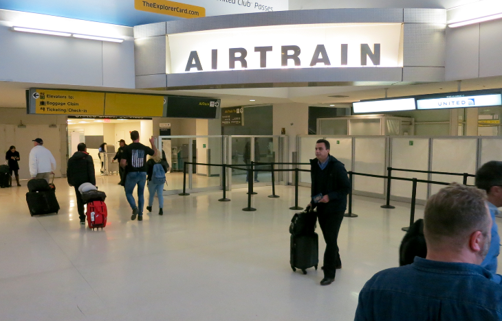Newark's intra-terminal rail system is called AirTrain (Chris McGinnis)