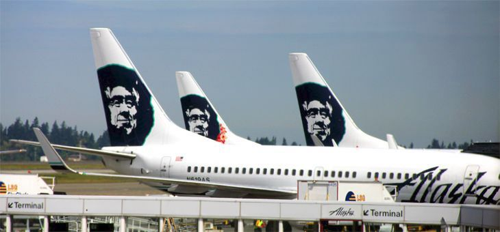 Alaska's larger, newer 737s will all get new Premium Class seating starting next year. (Image: Jim Glab)